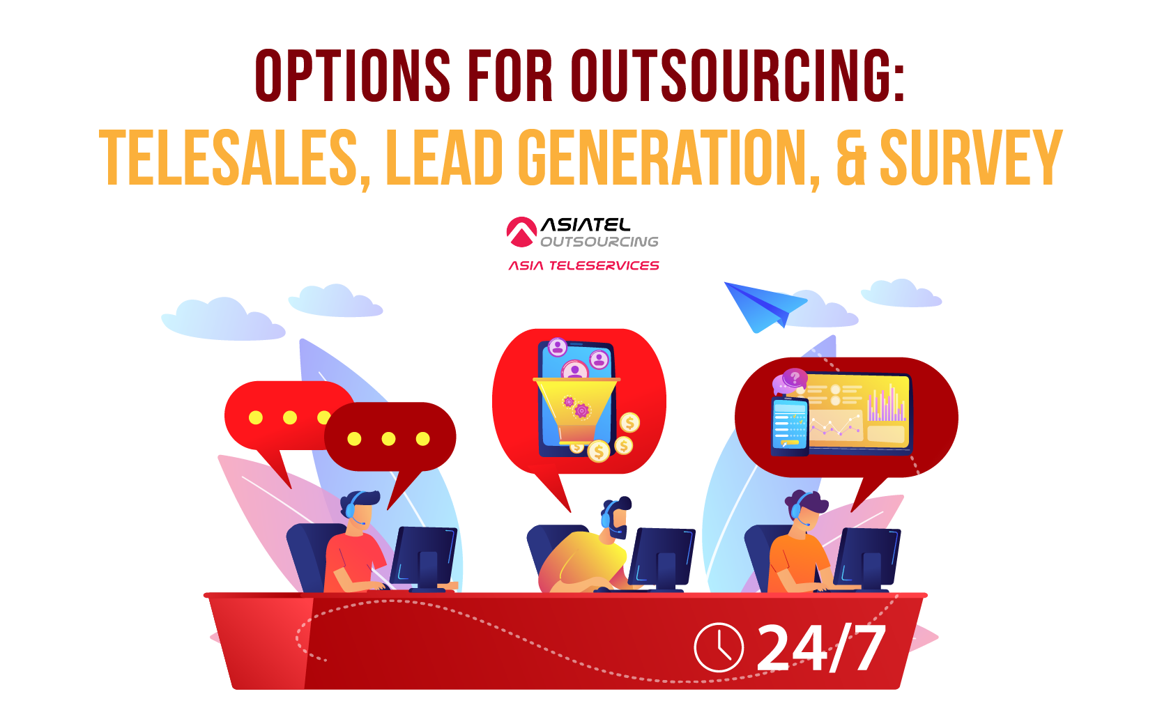 Options for Outsourcing: Telesales, Lead Generation & Survey